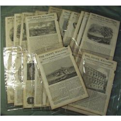 "22 Issues 19th Century ""The Penny Magazine"""
