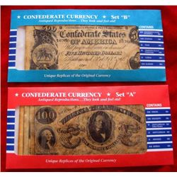 Confederate Currency Reproduction Set A& B