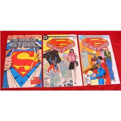 3- 1986 DC Superman 6-Part Mini-Series Comic Books