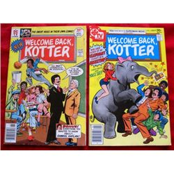 2- 1976 Welcome Back Kotter DC TV Comic Books