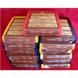 13 Country Gold 8-Track Cassettes