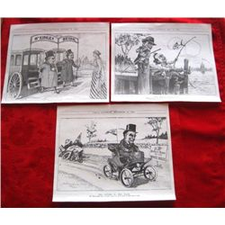 3 - 1900 Utica Newspaper Political illustrations