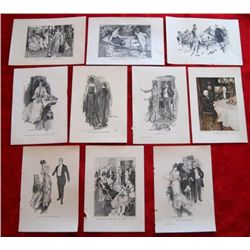 10 – 1900's Howard Christy Art Plate Prints