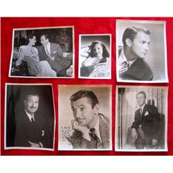 6 – 1940/50's Autographed Entertainer Photographs