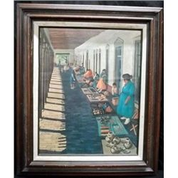 "Framed Print ""The Marketplace"" - Gene Boyce Guest"
