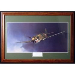 FLYING TIGER 27x39  FRAMED COLOR PRINT ROBT T. SMITH