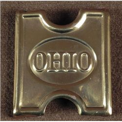 OHIO RESERVE SPANISH AMERICAN WAR CARTRIDGE BELT BUCKLE