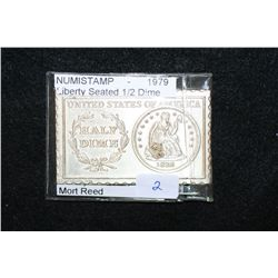 1979 Numistamp Liberty Seated 1/2 Dime; Mort Reed
