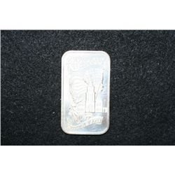 1976 Two Hundred Years of Independence Silver Ingot; .999 Fine Silver 1 Oz.; Madison Mint