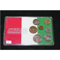 Mexico Mint Coin Set; Various Dates, Conditions & Denominations; Lot of 7