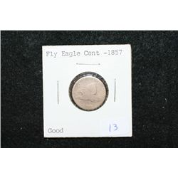 1857 Flying Eagle One Cent; Good