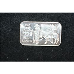 Nevada The Silver State Silver Ingot; .999 Pure Silver 1 Oz.; Minted by Nevada Coin Mart