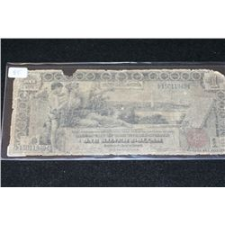 1896 US Silver Certificate $1 Educational Note; Red Seal