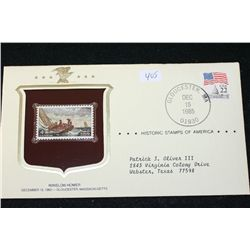 1985 Historic Stamps of America; Winslow Homer December 15, 1962 Gloucester MA