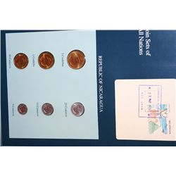 Republic of Nicaragua; Coin Sets of All Nations W/Postal Stamp Dated 1991