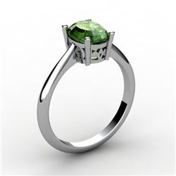 Tourmaline 0.90 ctw Ring14kt White Gold