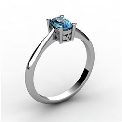 Topaz 0.57 ctw Ring 14kt White Gold