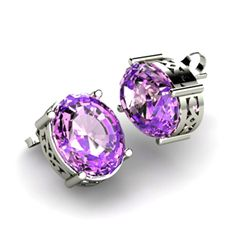 Amethyst 4.80ctw Earring 14kt White Gold