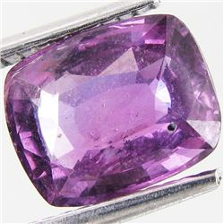 3.35ct Cushion Unheated Ceylon Purple Sapphire (GEM-35019)
