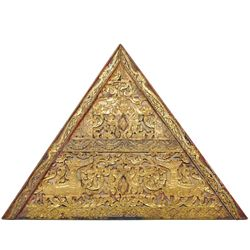 Architectural Antique Gilded Temple Roof Gable (ANT-360)
