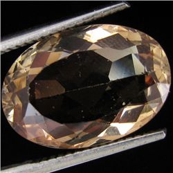 6.85ct Clear Champagne Oregon Sunstone Oval (GEM-30978)