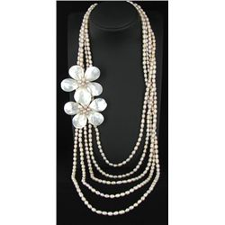 1400twc MOP & Pearl  Necklace (JEW-3307)