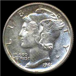 1941 Mercury Dime Gem MS66 FB (COI-8387)