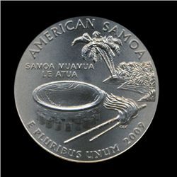 2009D American Samoa 25c NGC Super Gem MS69 SMS (COI-5892)