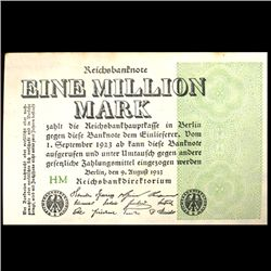 1923 Germany 1000000 Mark High Grade Note (COI-3976)