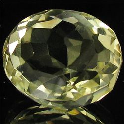 31.6ct Untreated Natural Lemon Citrine Oval (GEM-39511)