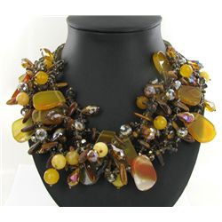 1450ct Agate &amp; Crystal Necklace (JEW-3733)