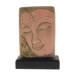 Excellent Hand Cast Sandstone Buddha Face (CLB-339)