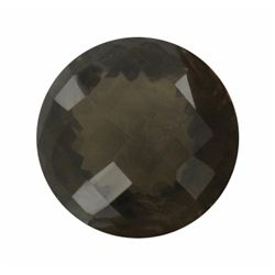 250ct Jumbo Checker Cut Smoky Quartz Gem  (GEM-20685)