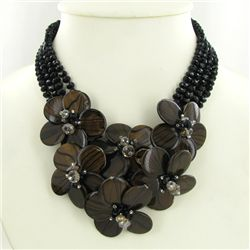 770ct Agate &amp; Crystal Necklace (JEW-3684)