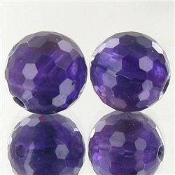 13.25ct Faceted Uruguay Purple Amethyst Round Bead Parcel (GEM-48377)