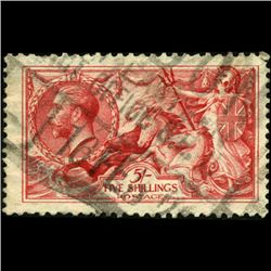 1919 Britain George VI 1/2 Crown Seahorses (STM-0820)