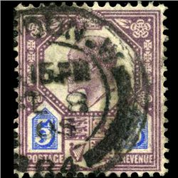 1902 Britain Edward 5p Stamp (STM-0793)