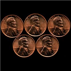 1948D Lincoln 1c MS64 RB 5pcs (COI-10260)
