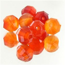 10.8ct Fire Red Carnelian Bead Parcel (GEM-47531)