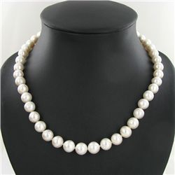 White Saltwater Pearl Strand Necklace (JEW-2586)