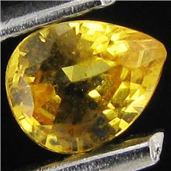 0.1ct Yellow Sapphire Pear (GMR-1114A)