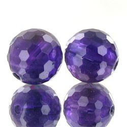 13.9ct Faceted Uruguay Purple Amethyst Round Bead Parcel (GEM-47182)