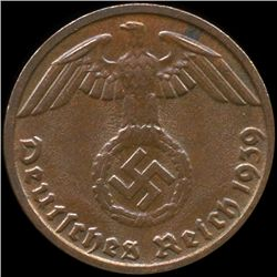 1939D Germany 1pf MS65 (COI-9942)