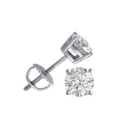 1.25 ctw Round cut Diamond Stud Earrings I-K, SI2