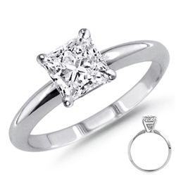 1.00 ct Princess cut Diamond Solitaire Ring, G-H, I