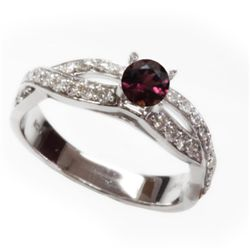 Natural 1.34 ct 3.80g Pink Tourmaline 14k WG Ring