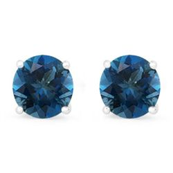 Genuine 2.82 ctw SapphireStud Earring 14k 0.92g