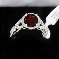 4.32g 14k White Gold Diamond Ring