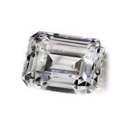 Diamond GIA Certified Emerald 0.45 ctw F,VS2