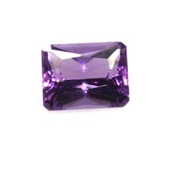 Natural Amethyst 3.31 Emerald Cut